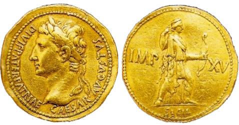 Multiplo da 4 Aurei del Museo Nazionale di Napoli. RIC 204.