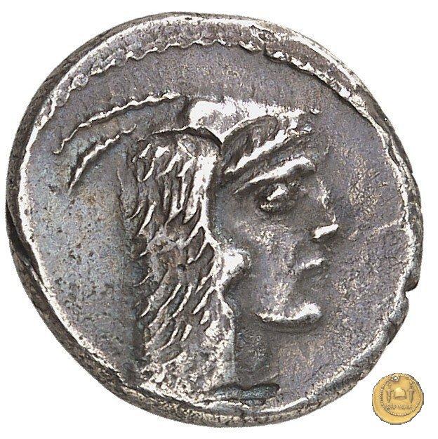 472/1 - denario L. Papius Celsus 45BC (Roma)