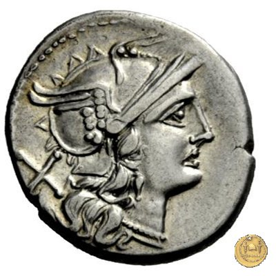 134/1 - denario L. Plautius Hypsaeus 194-190BC (Roma)