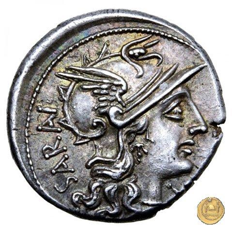 214/1 - denario M. Atilius Saranus 148BC (Roma)
