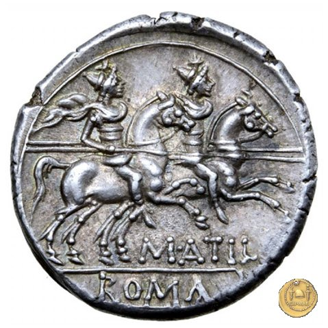 214/1 - denario M. Atilius Saranus 148a.C. (Roma)
