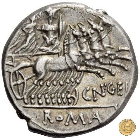 232/1 - denario Cn. Gellius 138BC (Roma)