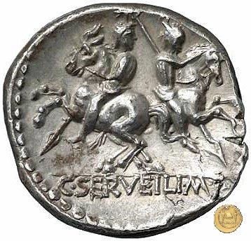 239/1 - denario C. Servilius M.f. 136BC (Roma)