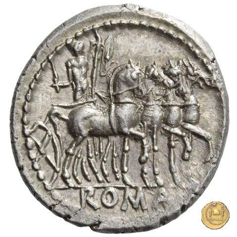 255/1 - denario M. Acilius M.f. 130BC (Roma)