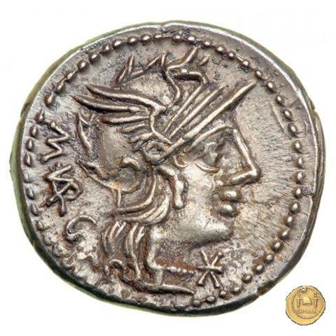 257/1 - denario M. Vargunteius 130BC (Roma)