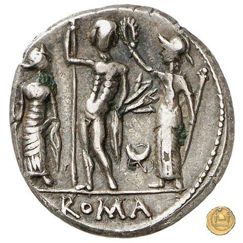296/1 - denario Cn. Cornelius Blasio 112-111a.C. (Roma)