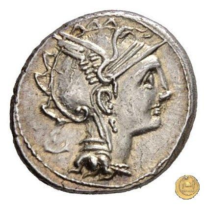 299/1a - denario Ap. Claudius Pulcher/ T. Manlius Mancinus/ Q. Urbiniu 111-110BC (Roma)
