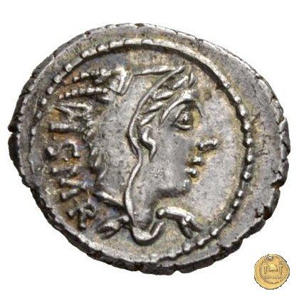 316/1 - denario L. Thorius Balbus 105BC (Roma)
