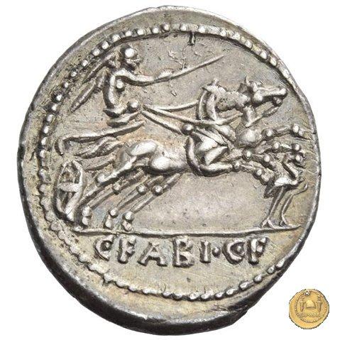 322/1 - denario C. Fabius C.f. Hadrianus 102BC (Roma)