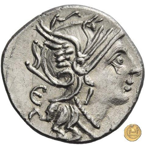 327/1 - denario M. Servilius C.f. 100a.C. (Roma)