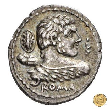 329/1 - denario P. Cornelius Lentulus Marcelli f. 100BC (Roma)