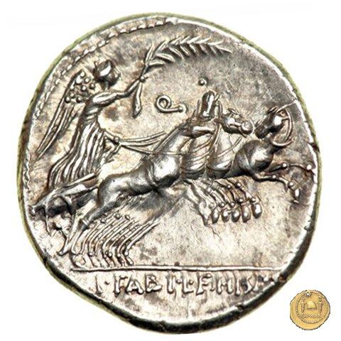 366/1 - denario C. Annius T.f.Tn. / L. Fabius L.f. Hispaniensis 82-81BC (Nord Italia)