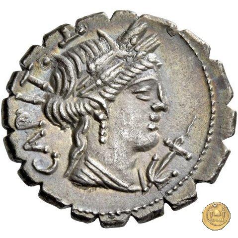 378/1 - denario C. Marius C.f. Capito 81BC (Roma)