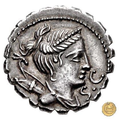 383/1 - denario Ti. Claudius Ti.f. Ap.n. Nero 79BC (Roma)