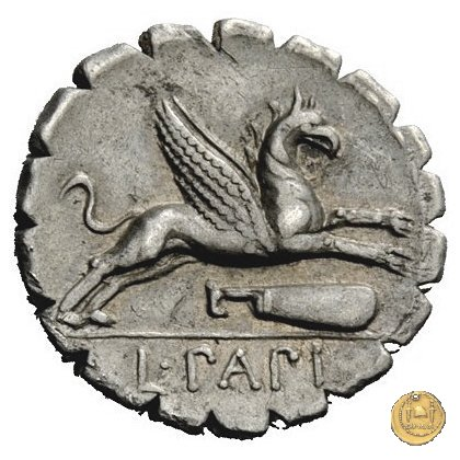 384/1 - denario L. Papius 79BC (Roma)