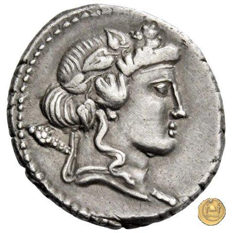 386/1 - denario L. Cassius Q.f. Longinus 78BC (Roma)