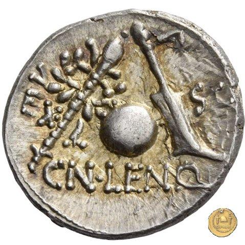 393/1 - denario Cn. Cornelius Lentulus 76-75BC (Spagna)