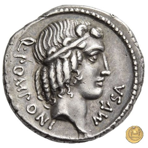 410/1 - denario Q. Pomponius Musa 66BC (Roma)