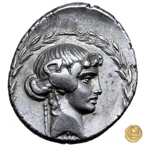 411/1 - denario L. Manlius Torquatus 65BC (Roma)