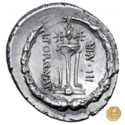 411/1 - denario L. Manlius Torquatus 65a.C. (Roma)
