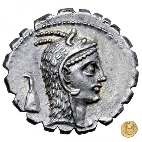 412/1 - denario L. Roscius Fabatus 64BC (Roma)