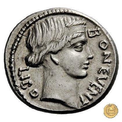 416/1 - denario L. Scribonius Libo 62BC (Roma)