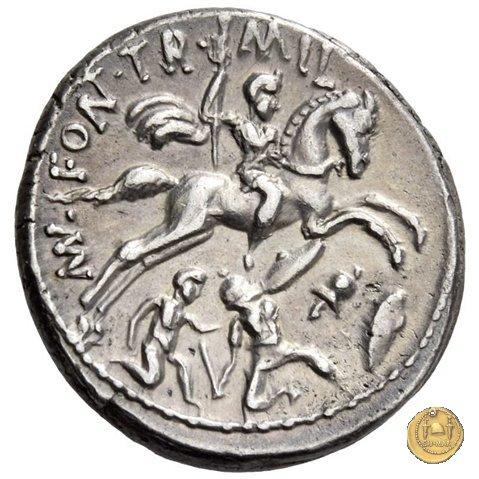 429/1 - denario P. Fonteius P.f. Capito 55BC (Roma)