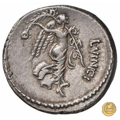 436/1 - denario L. Vinicius 52BC (Roma)