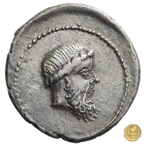 445/3 - denario L. Cornelius Crus Lentulus / C. Claudius Marcellus 49a.C. (Apollonia - Asia)