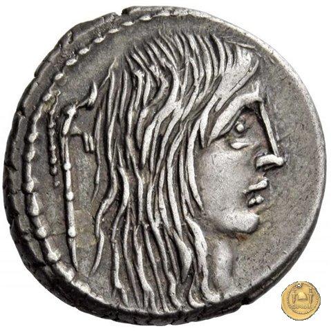 448/3 - denario L. Hostilius Saserna 48a.C. (Roma)