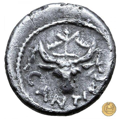 455/4 - sesterzio C. Antius C.f. Restio 47BC (Roma)