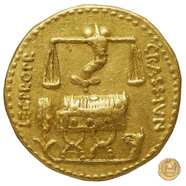 460/1 - aureo Q. Caecilius Metellus / P. Licinius Crassus Iunianus 47-46BC (Africa)