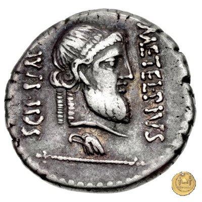 460/2 - denario Q. Caecilius Metellus / P. Licinius Crassus Iunianus 47-46BC (Africa)