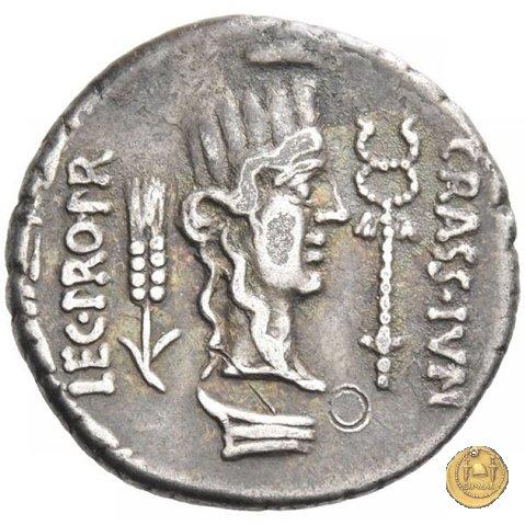 460/3 - denario Q. Caecilius Metellus / P. Licinius Crassus Iunianus 47-46BC (Africa)