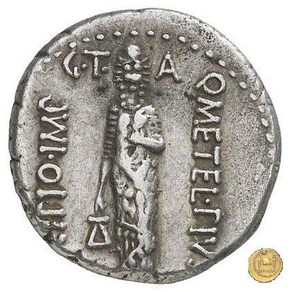 460/4 - denario Q. Caecilius Metellus / P. Licinius Crassus Iunianus 47-46BC (Africa)