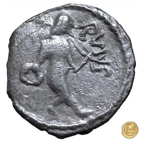 463/6 - sesterzio Mn. Cordius Rufus 46a.C. (Roma)