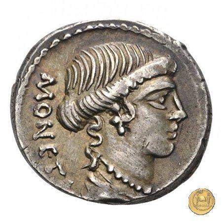464/2 - denario T. Carisius 46BC (Roma)