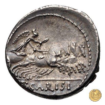 464/5 - denario T. Carisius 46BC (Roma)