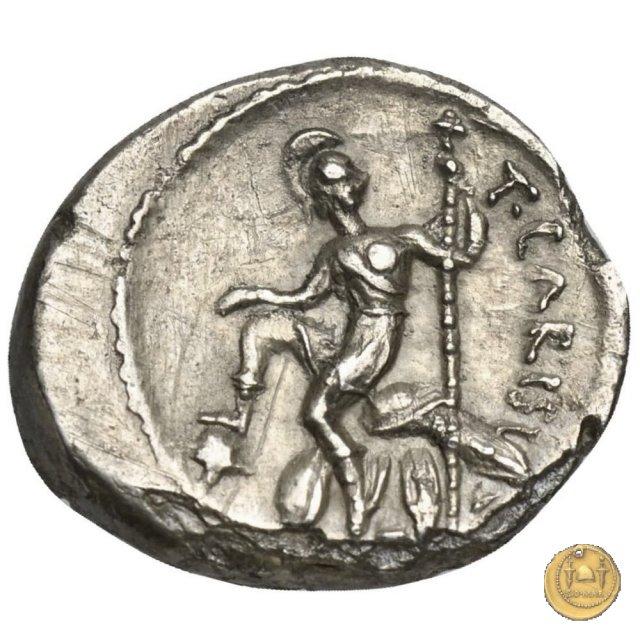 464/6 - quinario T. Carisius 46BC (Roma)