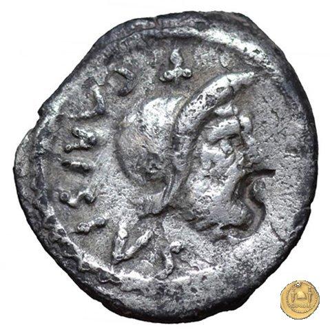 464/7 - sesterzio T. Carisius 46a.C. (Roma)