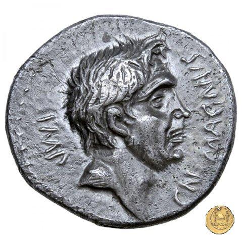 470/1d - denario Cn. Pompeius / M. Minatius Sabinus 46-45BC (Spagna)