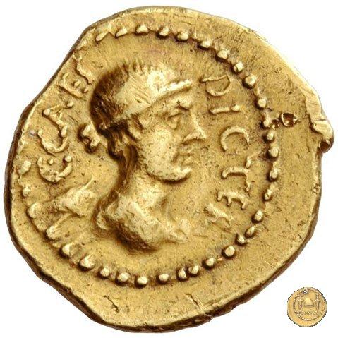 475/2 - mezzo aureo C. Iulius Caesar / L. Munatius Plancus 45BC (Roma)