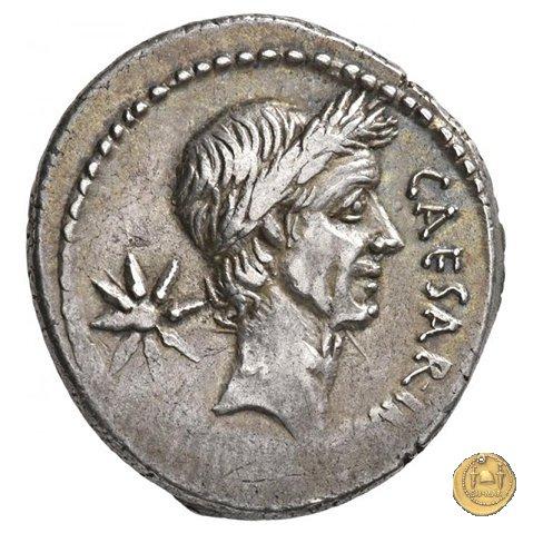 480/5 - denario C. Iulius Caesar / P. Sepullius Macer 44a.C. (Roma)
