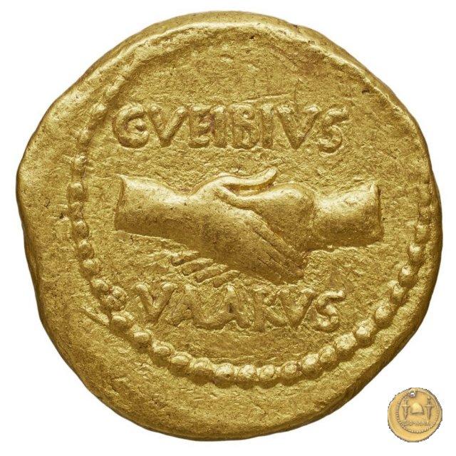494/10 - aureo M. Aemilius Lepidus / C. Vibius Varus 42BC (Roma)
