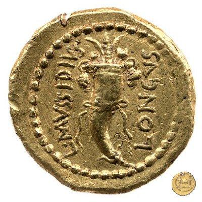 494/13 - aureo M. Aemilius Lepidus / L. Mussidius Longus 42BC (Roma)