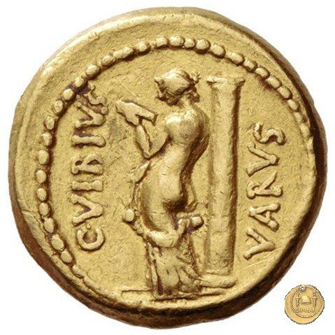 494/34 - aureo C. Vibius Varus 42BC (Roma)