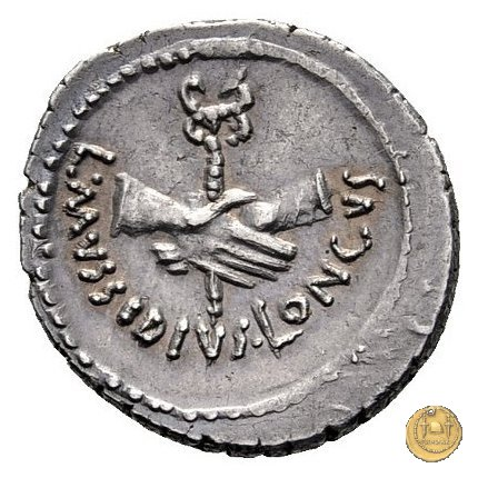 494/41 - denario L. Mussidius T.f. Longus 42BC (Roma)