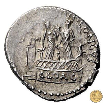 494/43 - denario L. Mussidius T.f. Longus 42BC (Roma)