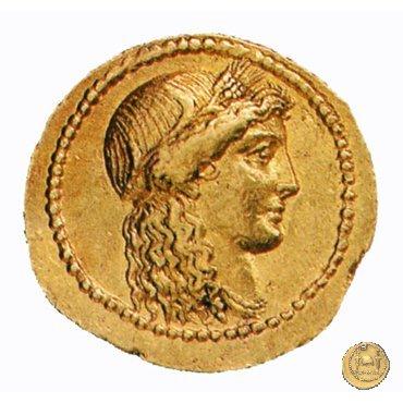 494/44 - aureo L. Mussidius T.f. Longus 42BC (Roma)