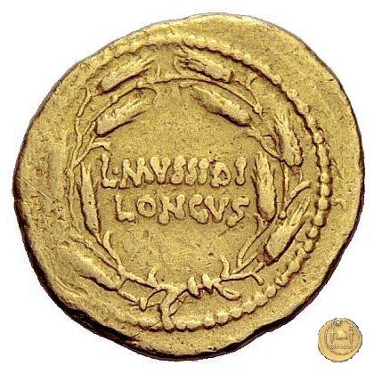 494/45 - aureo L. Mussidius T.f. Longus 42BC (Roma)